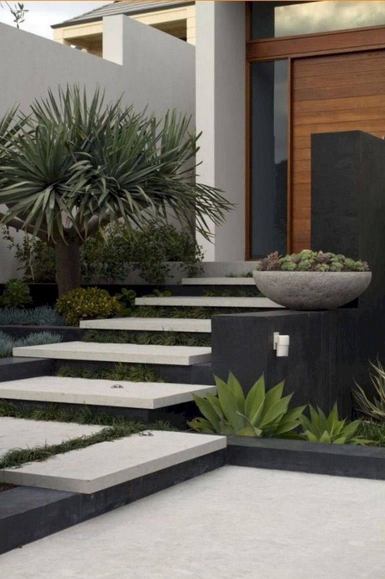 102 Marvelous Modern Front Yard Privacy Fences Ideas Yardart Yarddecorations Yarddecorations Modern Front Yard Modern Landscaping Front Yard Design Front yard modern landscaping ideas