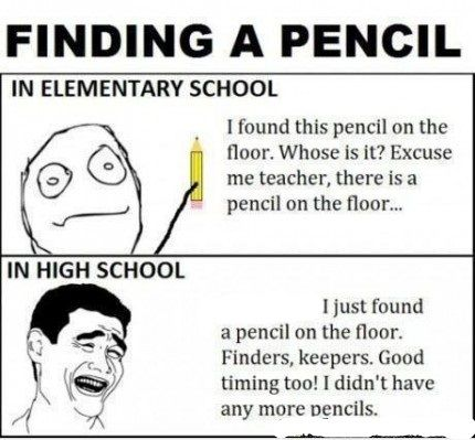 Funny Jokes About High School Finding A Penci...