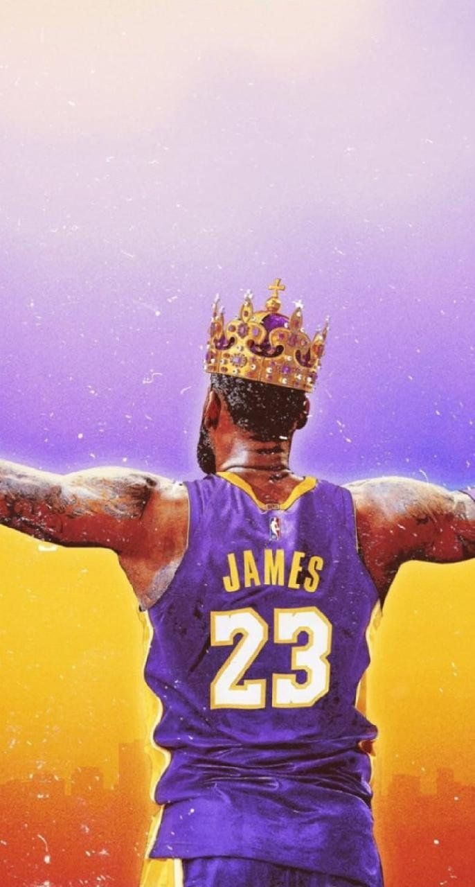 Lebron James Lakers Crown Poster Or Canvas Etsy Lebron James Lakers Lebron James Poster Lebron James Wallpapers
