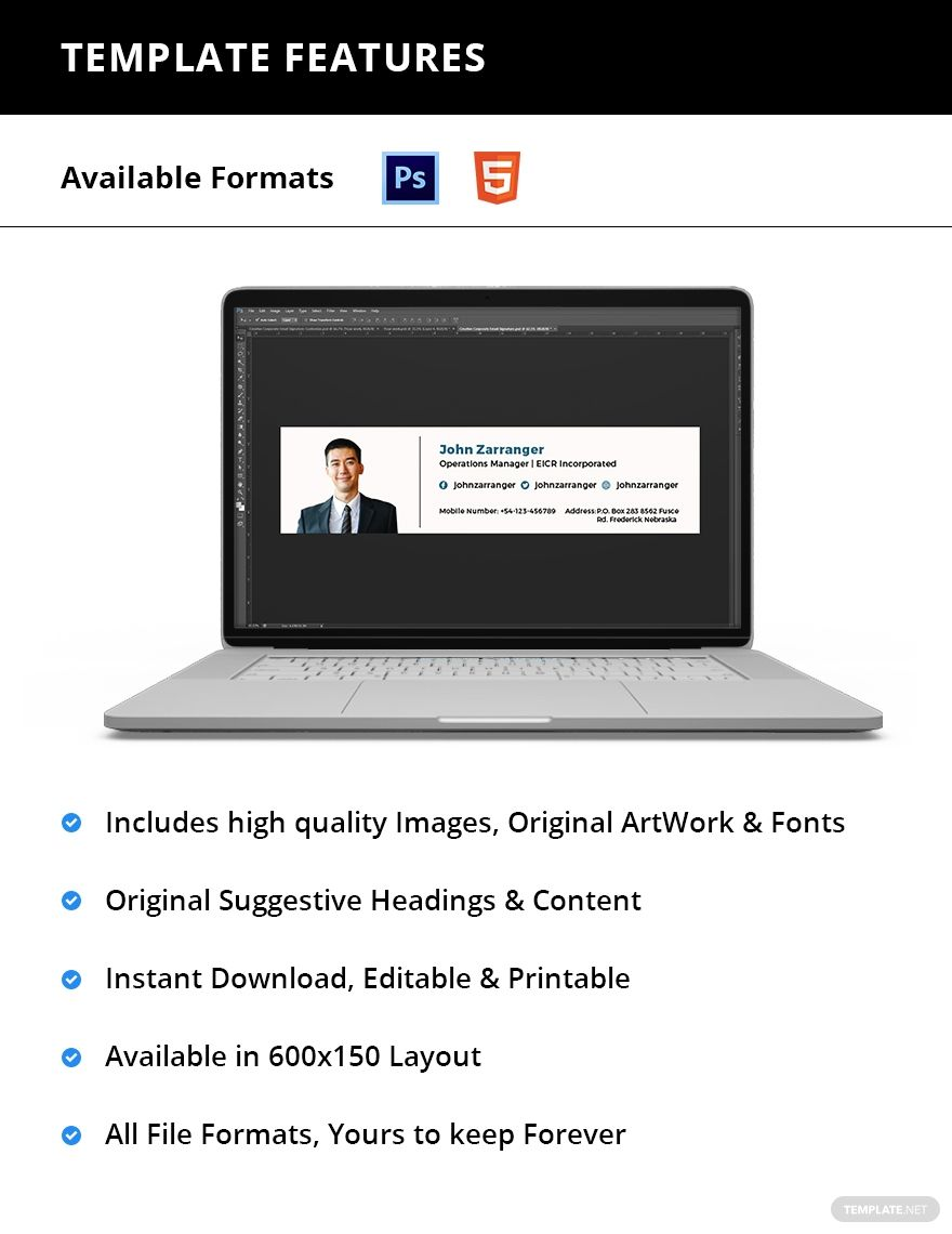Elegant Business Email Signature Template AD, , ad,