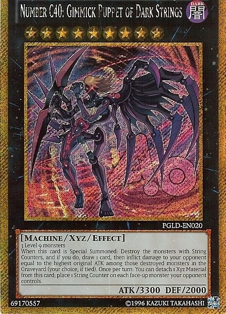 £1.6 GBP YuGiOh Secret Rare Number C40 Gimmick