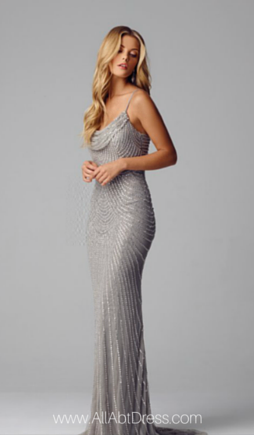Alberto Makali Spaghetti Strap Evening Gown With Cowl Neck Evening Gowns Pretty Dresses Ball Dresses