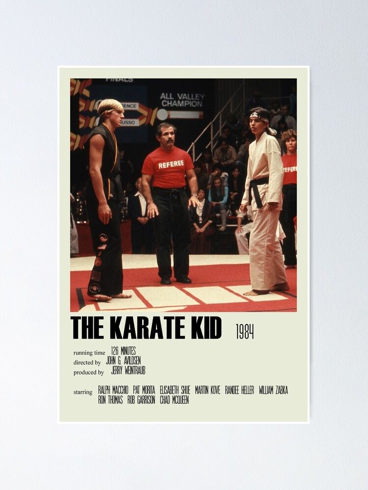 The Karate Kid (1984) Alternative Poster Art Movie Large (5) Poster