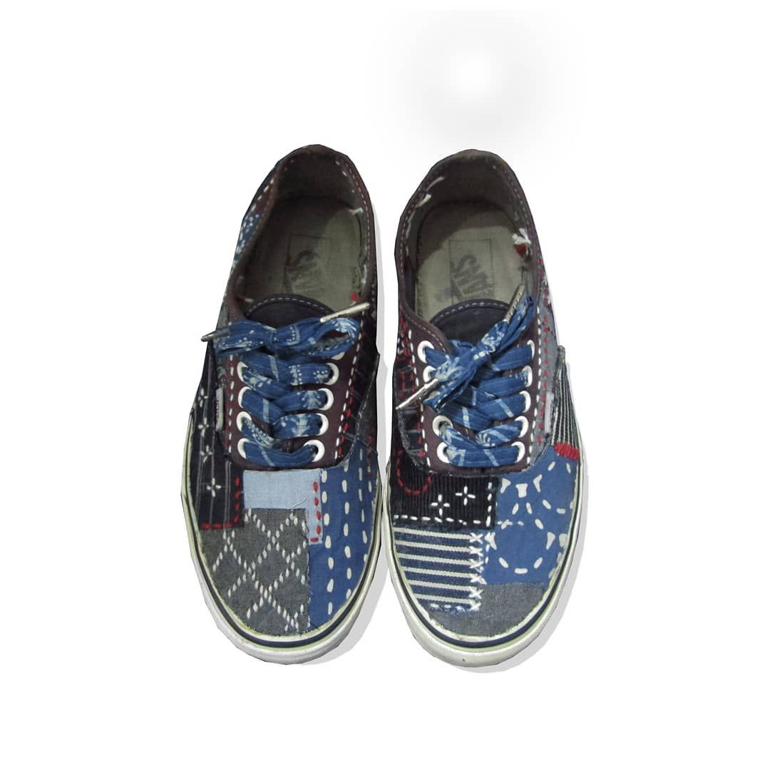 Vans Authentic Sashiko Patchwork Customized By Human Culture Vans Authentic Vans Custom Vans