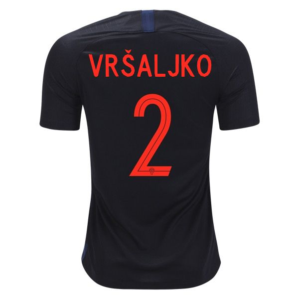 024166d6358 Sime Vrsaljko 2 Croatia 2018 World Cup Away Soccer Jersey