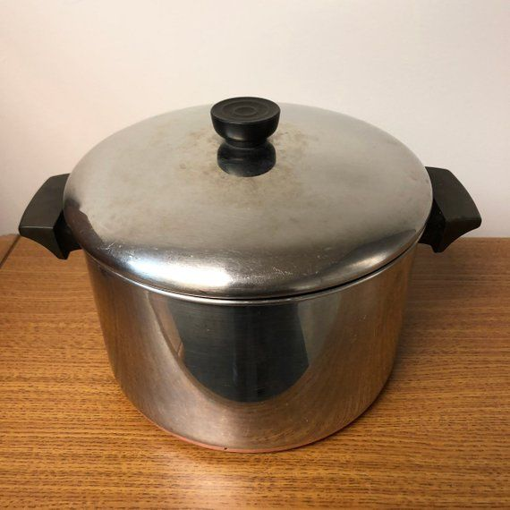 Revere Ware 5 Qt Cook Pot With Lid Copper Bottom Mid