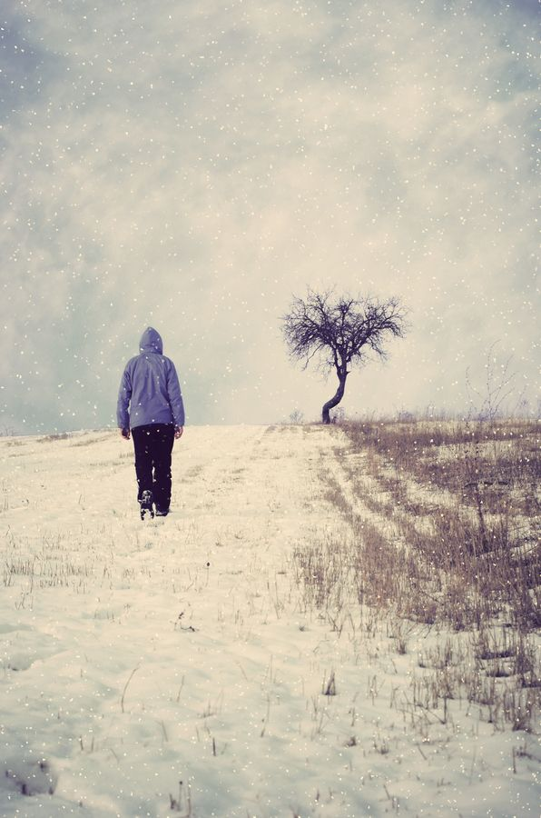 A Walk To Remember By: Adrian Limani #winter #tree #man