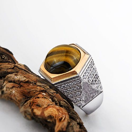 Silver Mens Ring 9 10 11 sizes Tiger eye ring Mens by ATAjewels #sterlingsilverring #tigerseyering #brownstonering #mensring #menssilverring #mensgemstonering #manring #925silverring