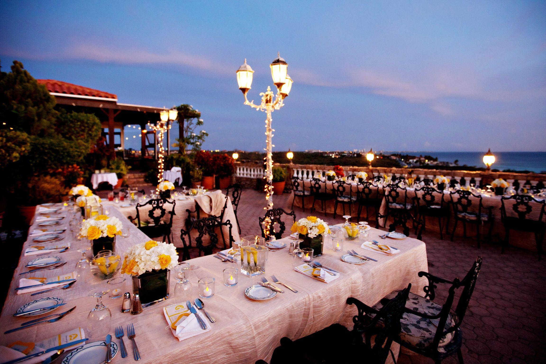 wedding reception locations nyc%0A Wedding Reception at La Trattoria El Faro Blanco Aruba