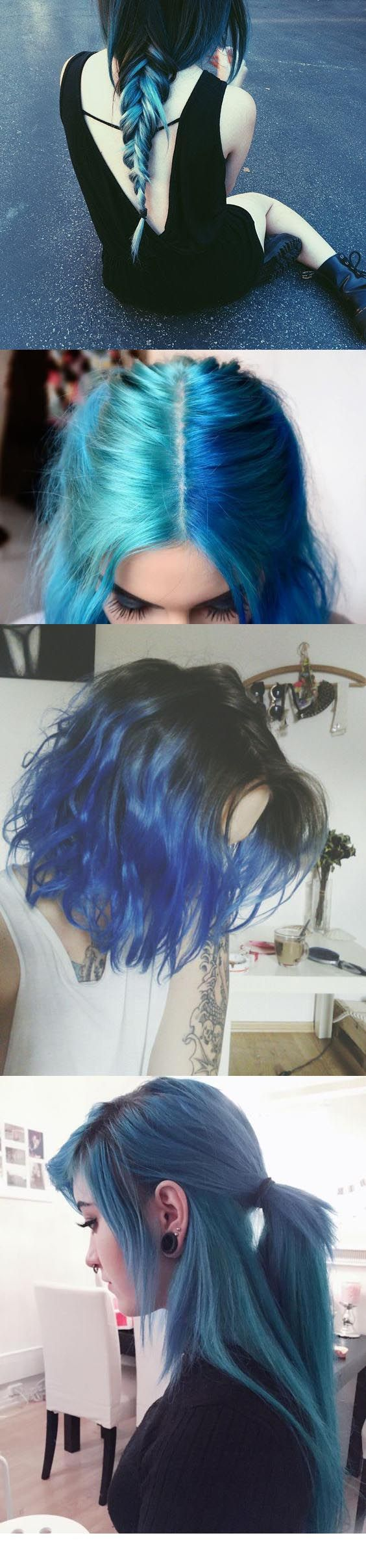 Blue hair frases pinterest blue hair hair coloring and hair style