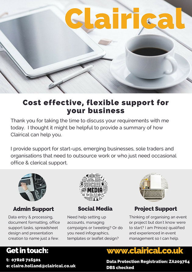Flyer Business Design Canva Virtual Assistant VA