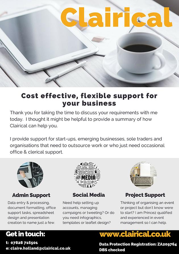 Flyer Business Design Canva Virtual Assistant Va