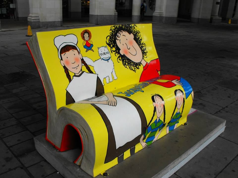 Literary Bench, Jacqueline Wilson, photo by Andy Carpenter, pinned by www.jane-davis.co.uk