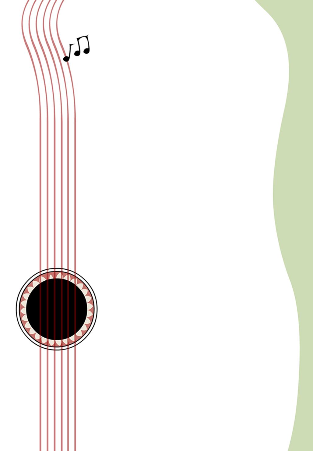 free invitation template a guitar melody greetings island rh pinterest com
