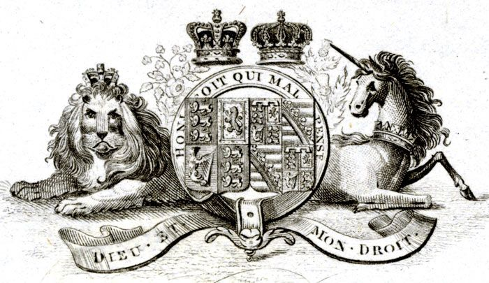 Coat of arms of Queen Victoria and her husband Prince Albert