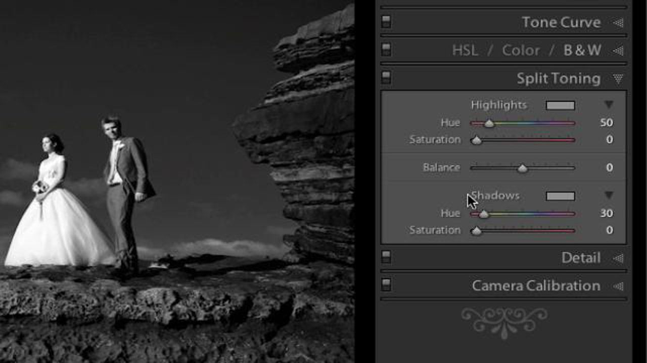 How to use split toning in lightroom