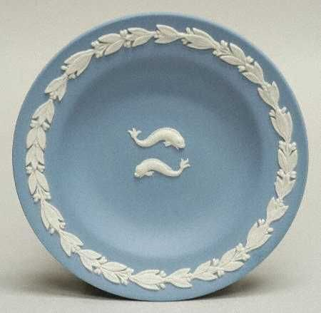 Wedgwood China Pisces Boxed In The Zodiac Pattern By Wedgwood