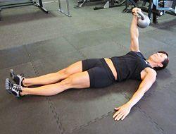 One Arm Kettlebell Floor Press Instruction Video Kettlebell Workout Videos Exercise