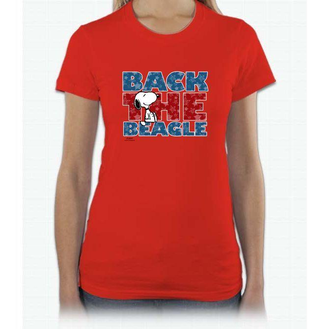 Back The Beagle Linus Peanuts Short Sleeve Women T-Shirt