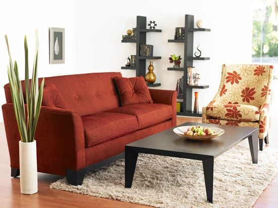 Dania Fabric Berkeley Sofa Red Home Living Room Red Sofa Home And Living
