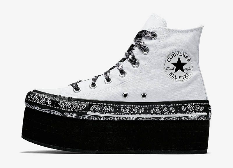 Converse x Miley Cyrus Chuck Taylor All Star Platform High Top in White  95 e718cede5