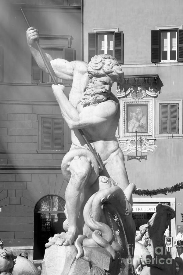 Neptune Vs Octopus - Piazza Navona In Rome by Stefano Senise #greekstatue