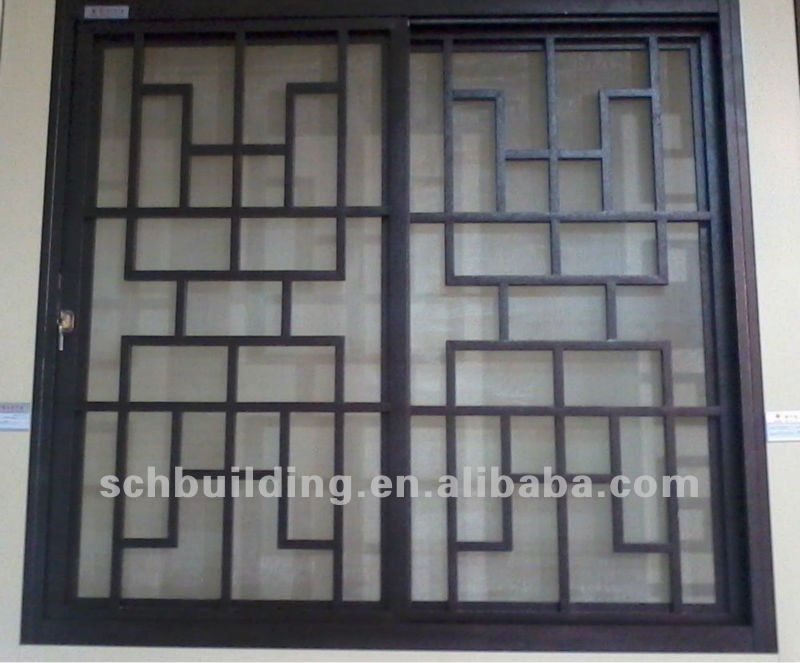 Window grills design interior window grills multidao for Metal window designs