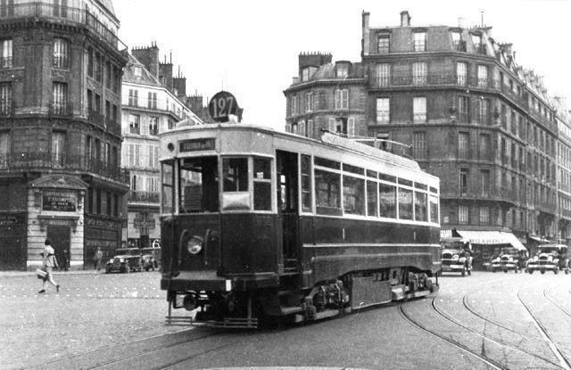 photos les premiers transports en commun parisiens tramway pinterest train paris et. Black Bedroom Furniture Sets. Home Design Ideas