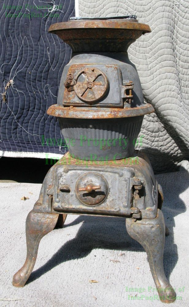 antique sears roebuck no 44 112 132 pot belly stove cast iron w rh pinterest com