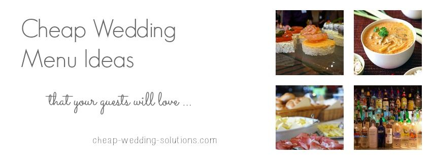Food Cheap Wedding Menu Ideas