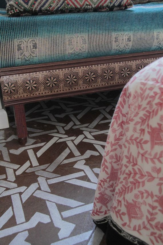 Wand decke boden schablone kamel knochen von royaldesignstencils stencils pinterest boden - Wand muster schablonen ...