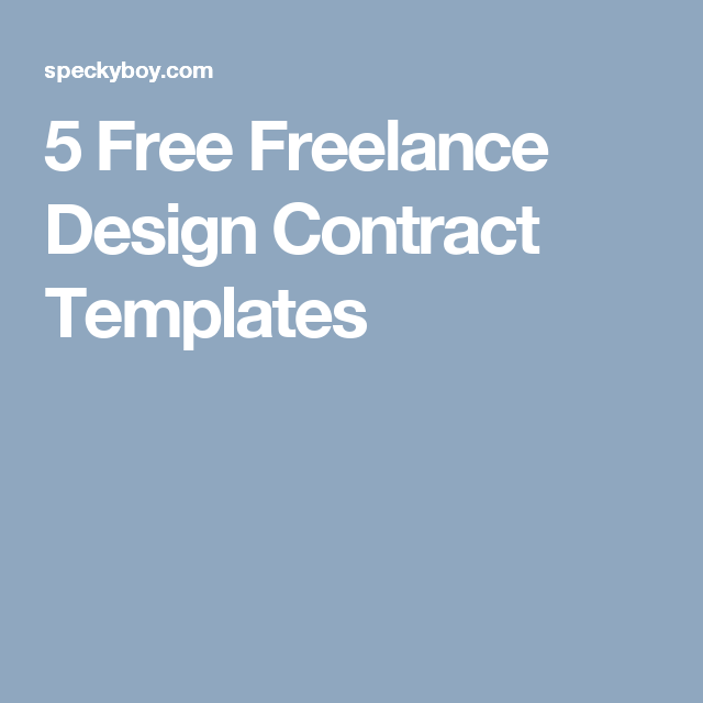 Free Freelance Design Contract Templates