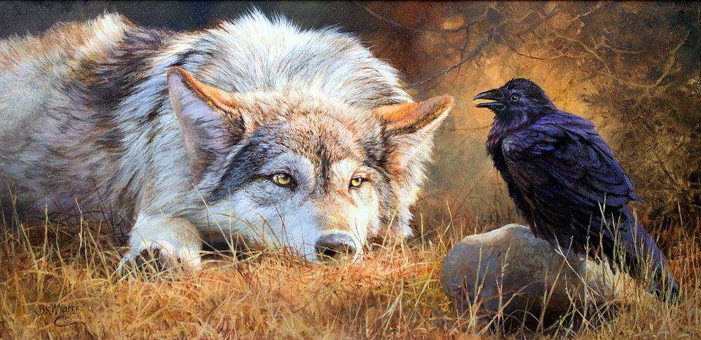 его открытки птичка и волк как уже догадались