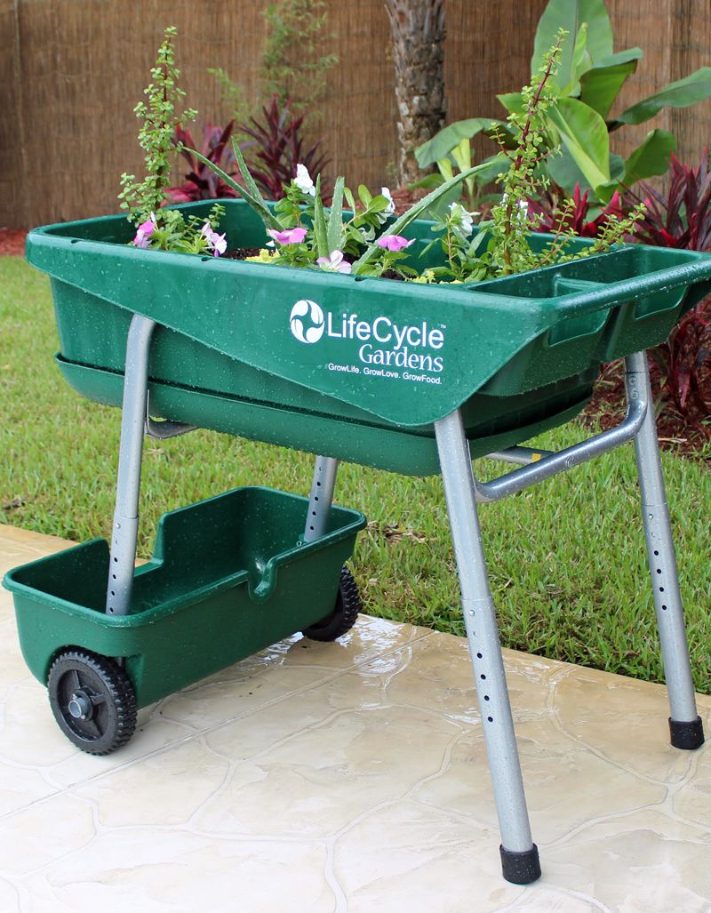 Garden on wheelz the innovative portable gardening system that 39 s perfect for school programs for Gardening tools for the elderly