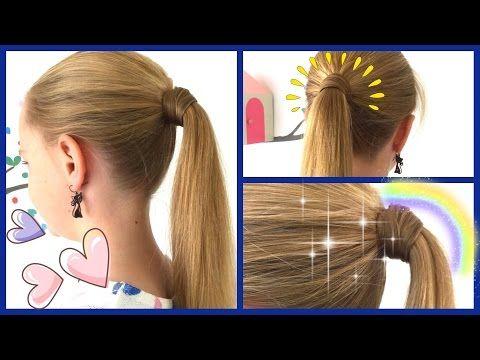 Mit Haaren Umwickeltes Zopfgummi 2 Varianten Ohne Haarnadeln Zopf Frisur Fur Madchen Haar Styling Zopfe Haarnadeln