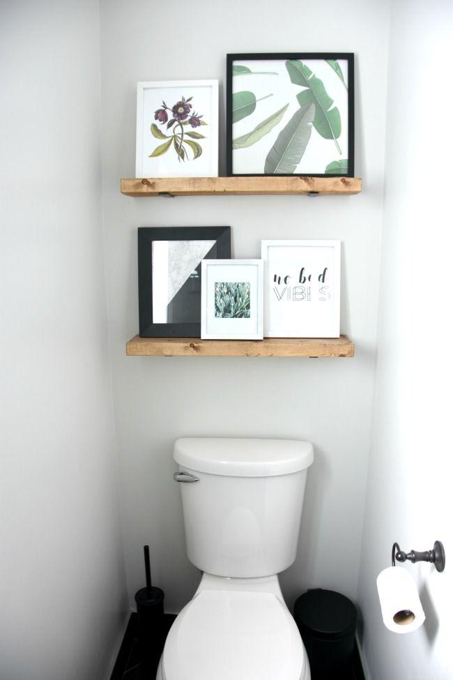 Easy Diy Floating Shelves Awkward Toilet And Shelves