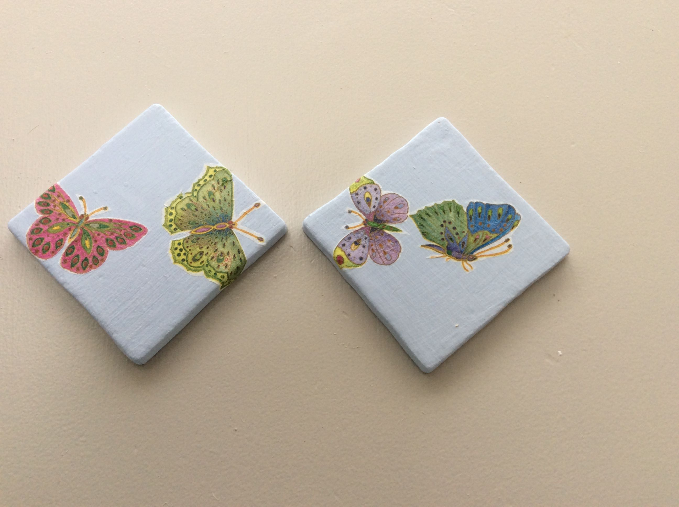 Painted Decoupage Coasters