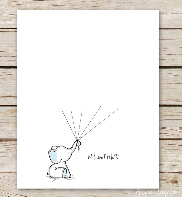 Elephant Baby Shower Guest Book Printable Free Baby Shower