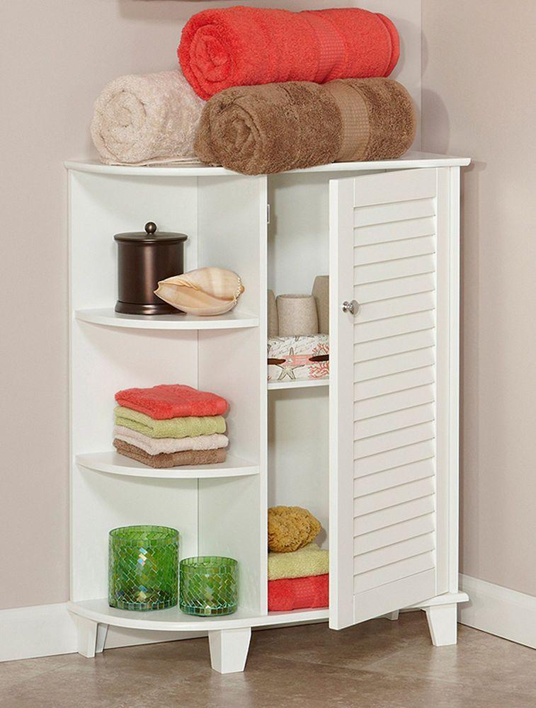 Bathroom Standing Cabinet Floor Cabinets Wood Shelving Unit Free