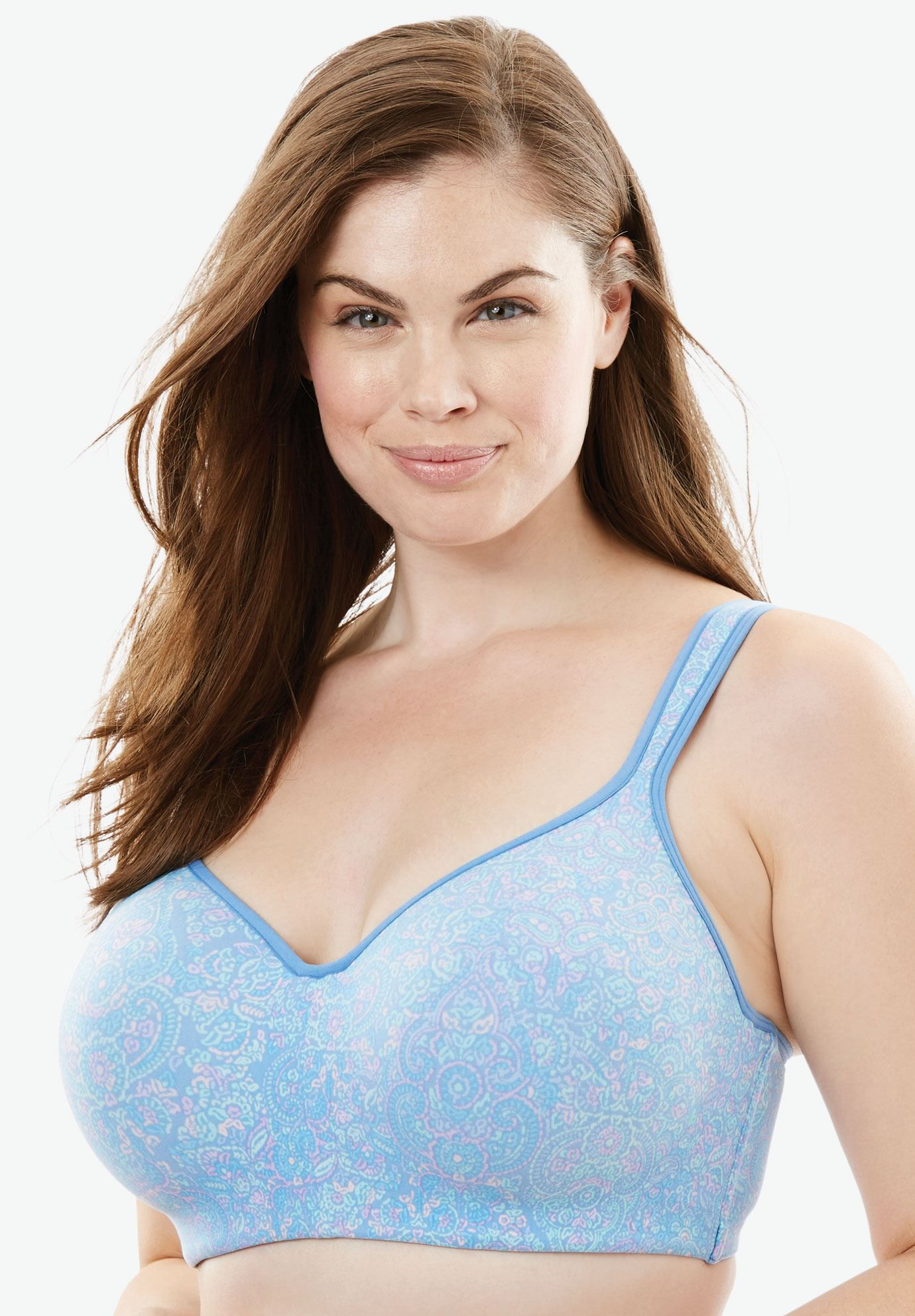 906c4e963b2 Flex Wire Tee Bra by Comfort Choice - Women s Plus Size Clothing ...