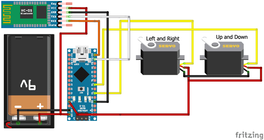 schematics for face tracking robot with arduino arduino projects rh pinterest com