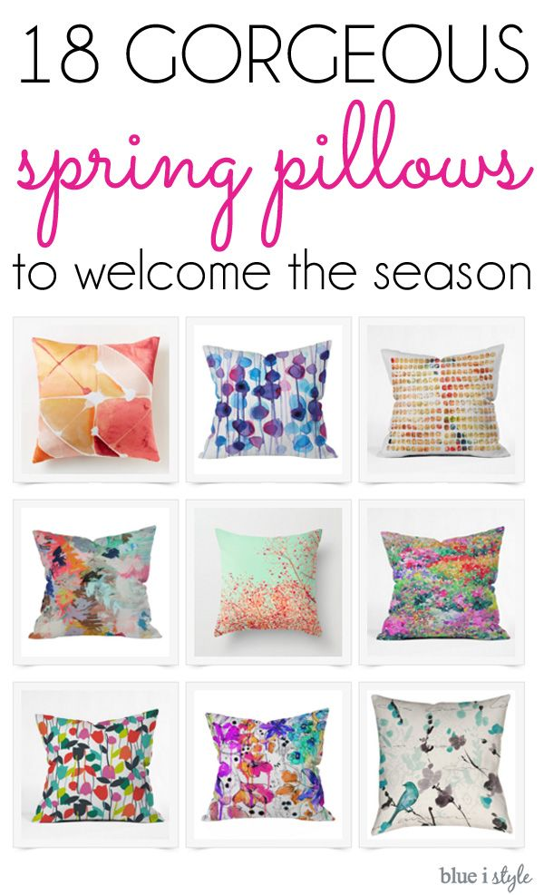 Swapping out pillows is one of the quickest and easiest ways to update your decor with the changing seasons.