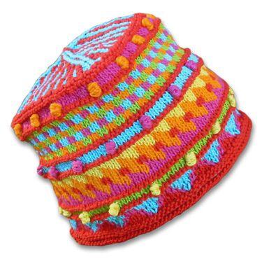 KnitWhits - Knitting Patterns and Kits - Herbie Fire Fair Isle Hat Amazing ...