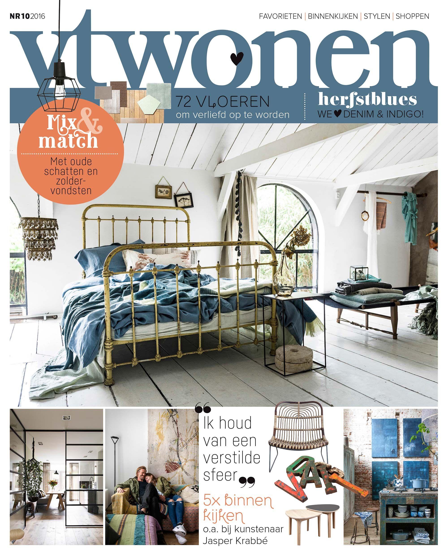 Vtwonen magazine cover nr 10 2016 vtwonen covers in for Interieur tijdschriften nederland