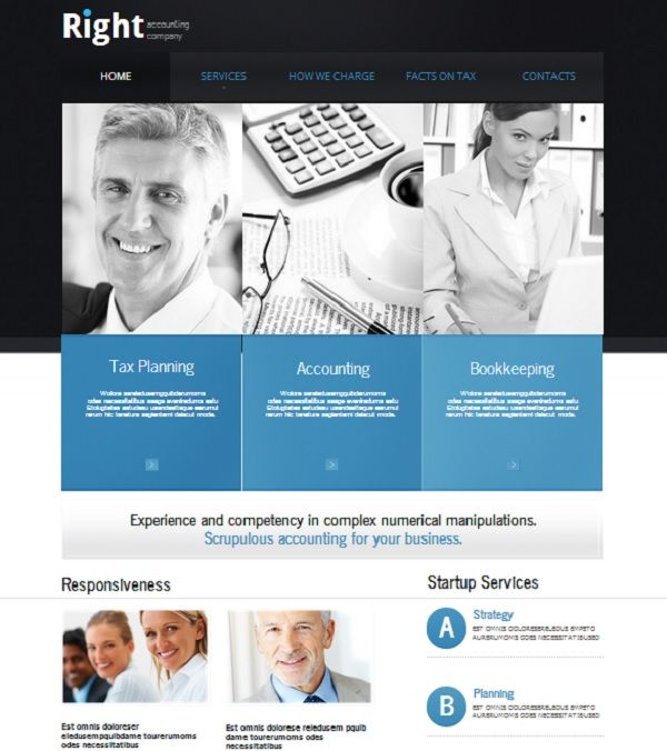 how to make an accounting website best examples website templates