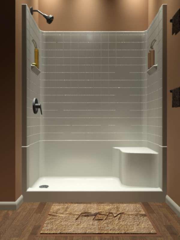 sectional piece remodeler shower bathroom shower remodel rh pinterest com