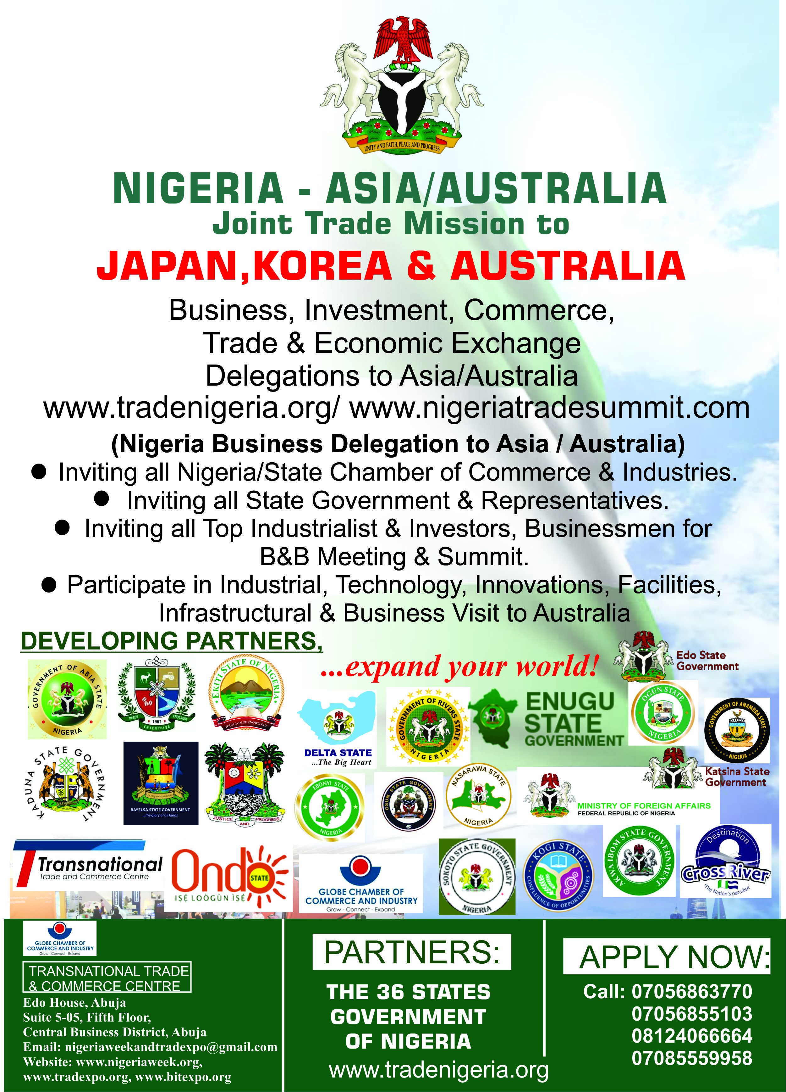 Nigeria Asia Australia Week And Joint Trade Mission Is An