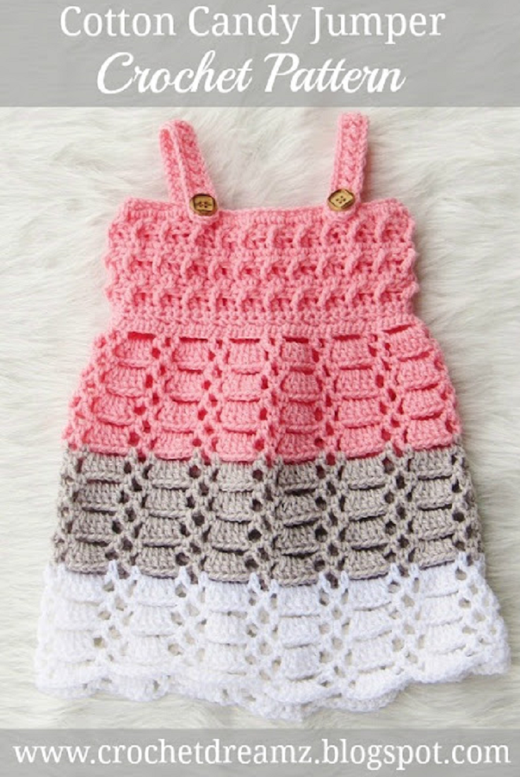 Cotton Candy Jumper, Crochet Baby Dress Pattern | Strickanleitungen ...