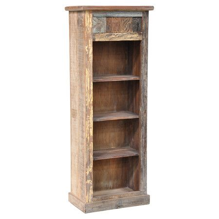 Reclaimed Wood Bookshelf With A Distressed Finish Product