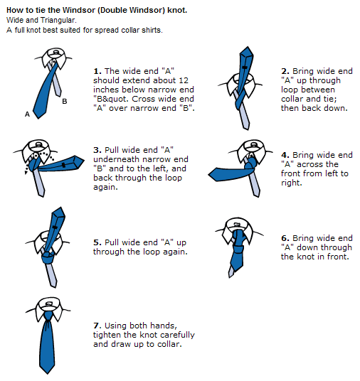 How to tie a double windsor knot | Clothes | Pinterest | Windsor knot